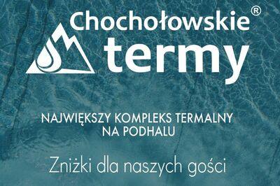 Chochołowskie Termy plakat zniżki dla naszych gości